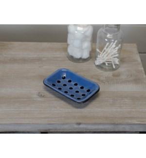 |MTL. ENAMELWARE SOAP DISH BLUE|