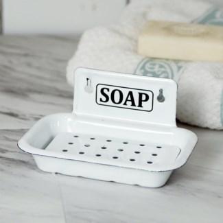 MTL. ENAMELWARE SOAP DISH WALL (36/cs)