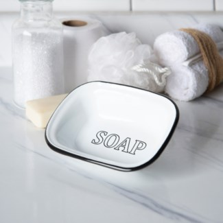 MTL. ENAMELWARE SOAP DISH (72/cs)