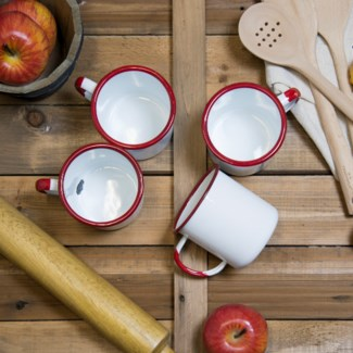 MTL. ENAMELWARE MUG RED SET/4 (12sets/cs)