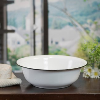 MTL. ENAMELWARE BOWL - BLACK (16/cs)