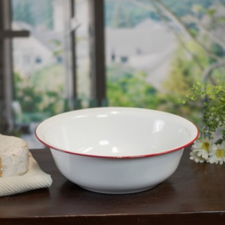 MTL. ENAMELWARE BOWL - RED (16/cs)