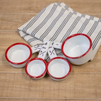 MTL. ENAMELWARE MEASURING CUPS - RED (32sets/cs)