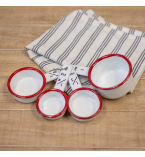 MTL. ENAMELWARE MEASURING CUPS - RED
