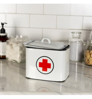 MTL. ENAMELWARE FIRST AID BOX