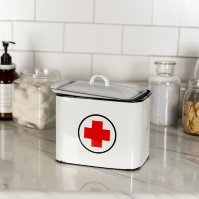 MTL. ENAMELWARE FIRST AID BOX (12/cs) (Available April 2019)