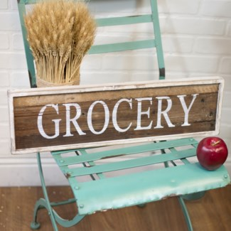 "WD. SIGN ""GROCERY (4/cs)"