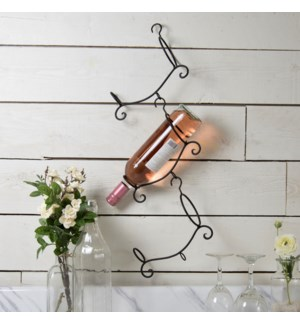 |MTL. WALL WINE RACK|