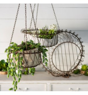 MTL. HANGING BASKETS SET/3