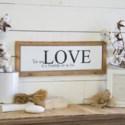 "WD./MTL. SIGN ""TRUE LOVE"" (24/cs)"