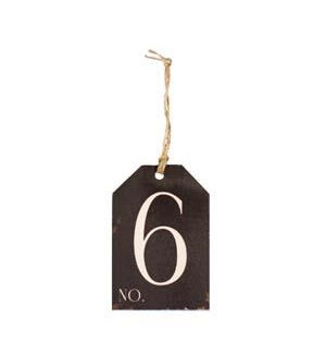 |WD. NUMBER 6 TAG|