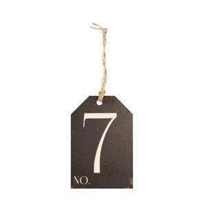 |WD. NUMBER 7 TAG (48/cs)|