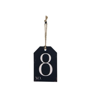 |WD. NUMBER 8 TAG|