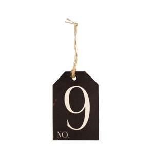 |WD. NUMBER 9 TAG (48/cs)|