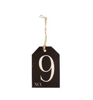 |WD. NUMBER 9 TAG|