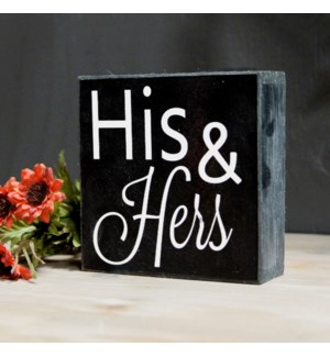 "|WD. ""HIS & HERS"" SIGN