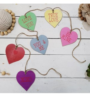 "|WD.4"" HEART TAGS GARLAND