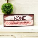 |WD. 5X12 SIGN PNK - HOME (12/cs)|