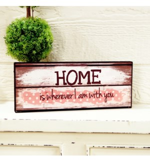 |WD. 5X12 SIGN PNK - HOME|
