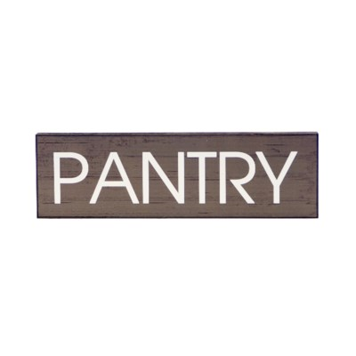 |WD. 5X16 SIGN GREY - PANTRY (12/cs)|
