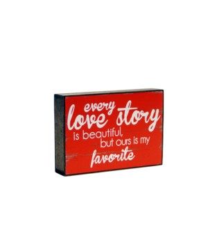 WD. 6X9 BOX RED - LOVE STORY