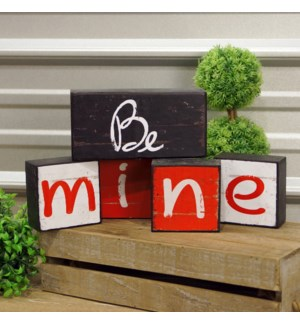 "|WD. BLOCKS ""BE MINE"" S/5