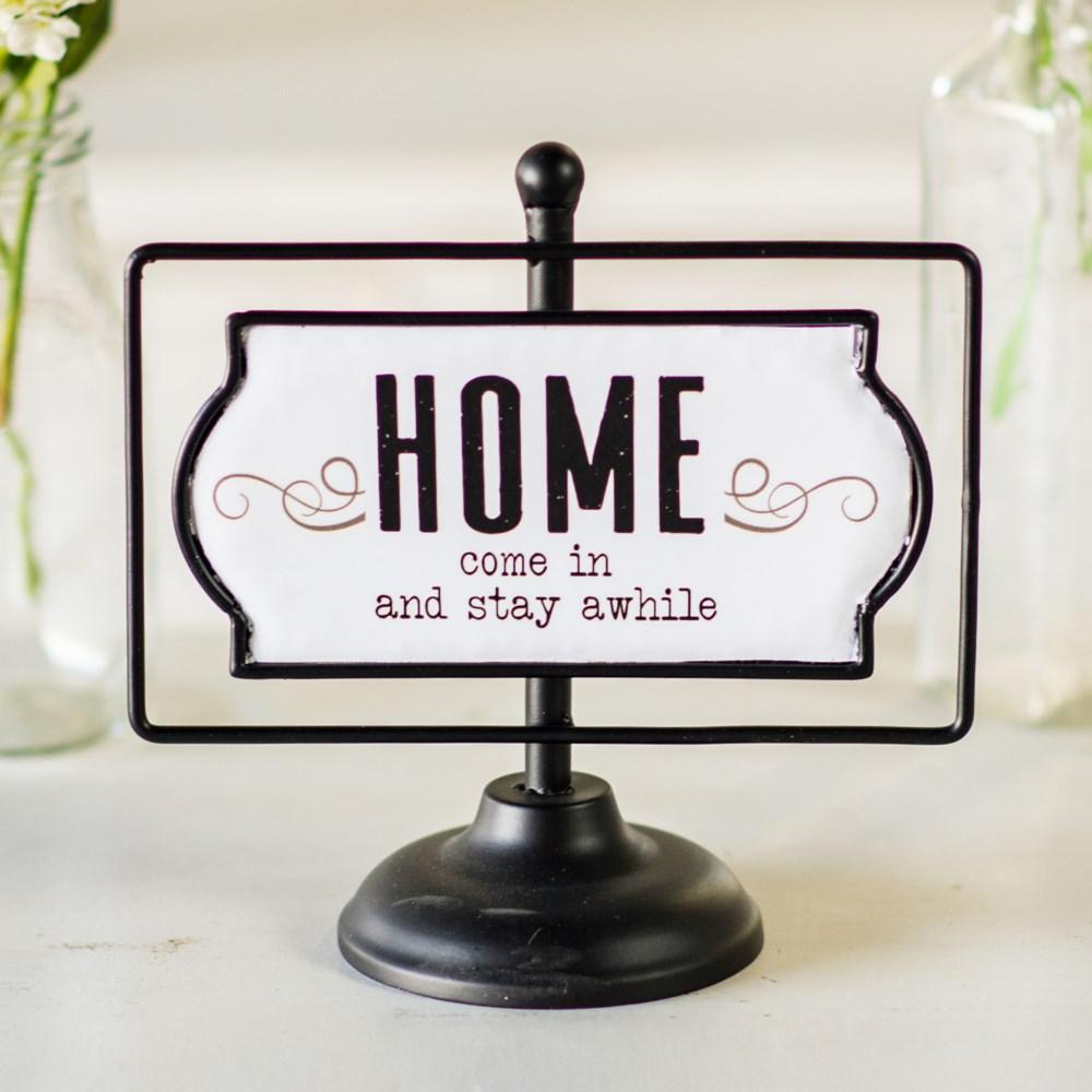 "MTL. SIGN ""HOME"""