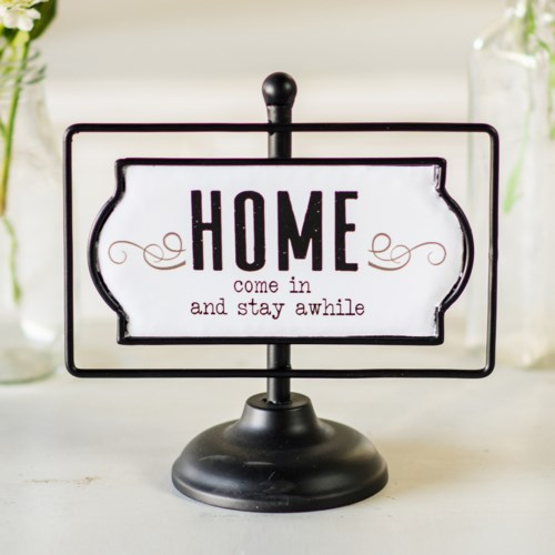 "MTL. SIGN ""HOME"""