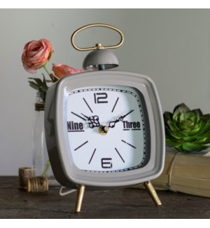 MTL. TABLE CLOCK GREY