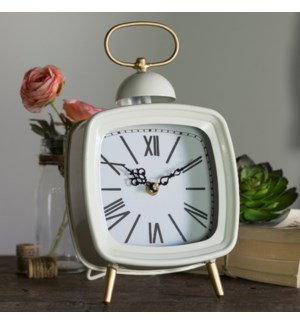 MTL. TABLE CLOCK WHITE