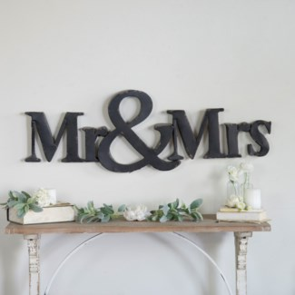 "MTL. ""MR & MRS"" SIGN (1/cs)"