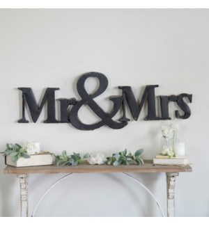 "MTL. ""MR & MRS"" SIGN"