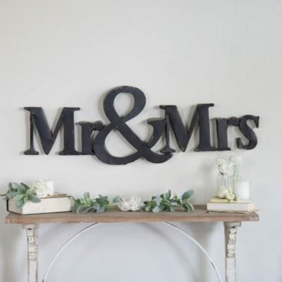 "MTL. ""MR & MRS"" SIGN (1/cs)"