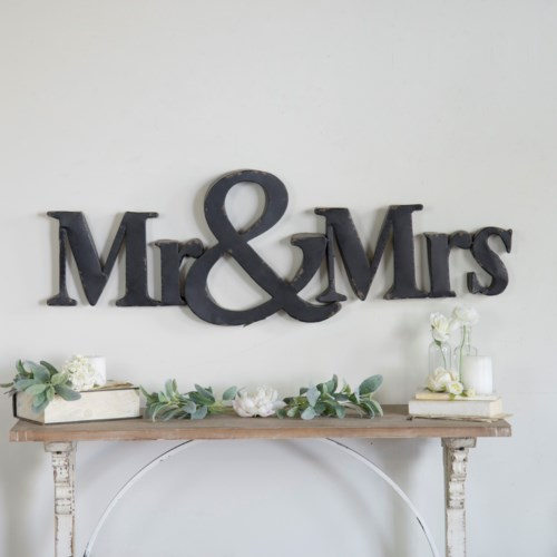 "MTL. ""MR & MRS"" SIGN"