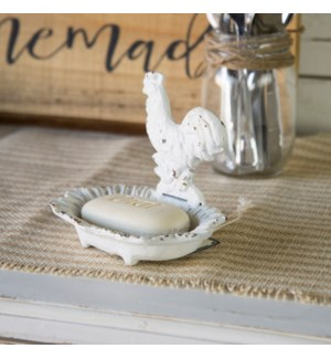 MTL. SOAP DISH ROOSTER