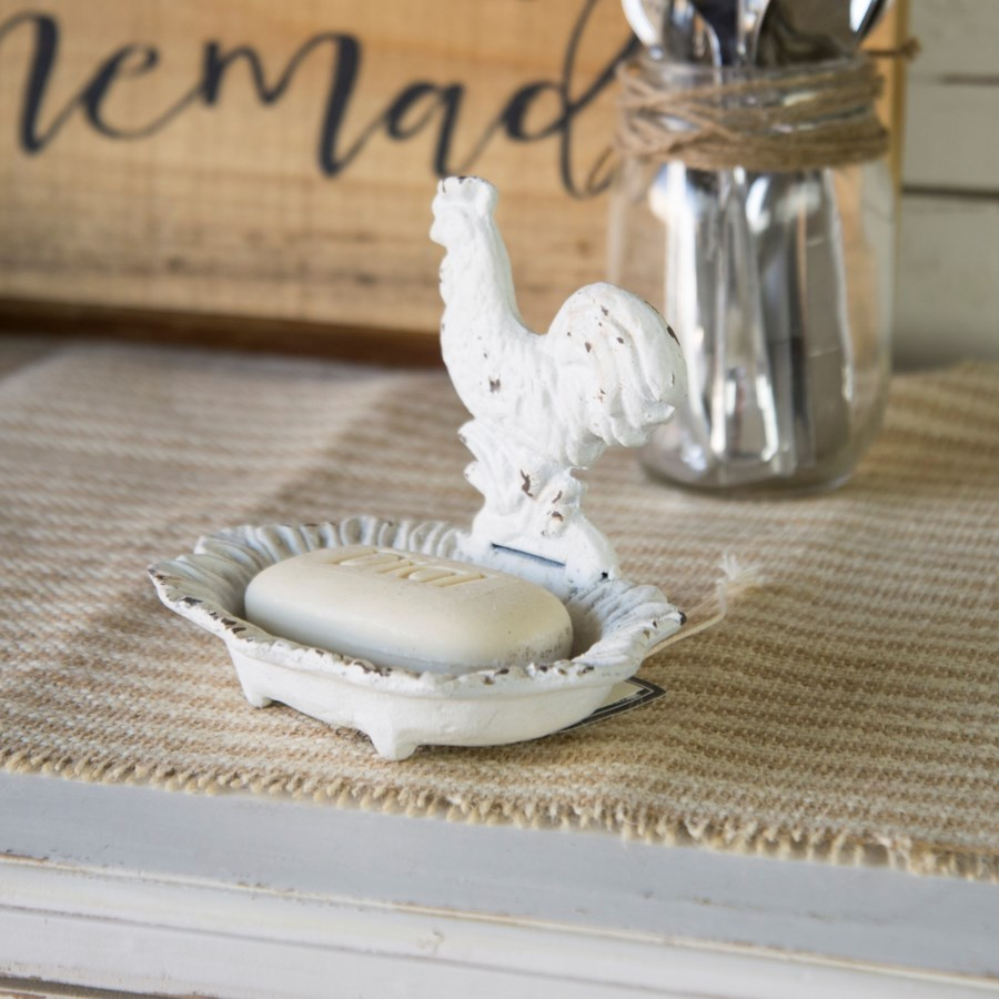 |MTL. SOAP DISH ROOSTER|