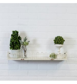 "|MTL. SHELF 24"" - WHITE