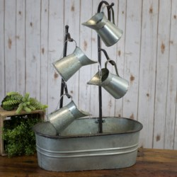 MTL. WATERING CAN FOUNTAIN