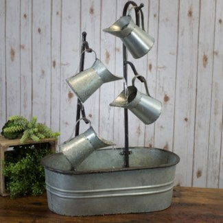 MTL. WATERING CAN FOUNTAIN (1/cs)