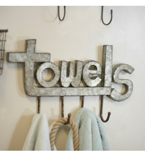 "|MTL. ""TOWELS"" HOOK