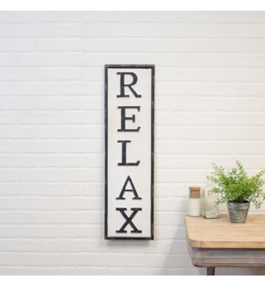 "|MTL. WORD ART ""RELAX""