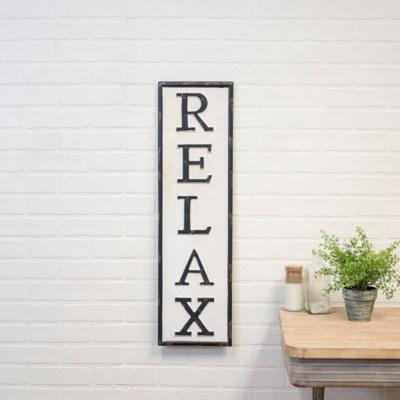 """MTL. WORD ART """"RELAX"""" (1/cs)"""