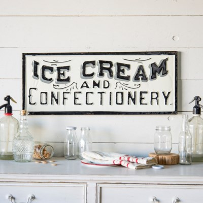 "|MTL. SIGN ""ICE CREAM"" (6/cs)