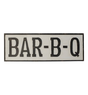 "MTL. WORD ART ""BBQ"""