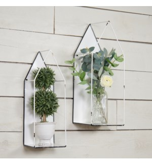 |MTL. WALL PLANT HOLDER SET/2|