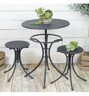 |MTL. BISTRO SET BLACK|
