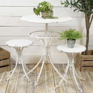 MTL. BISTRO SET WHITE (1set/2cs)