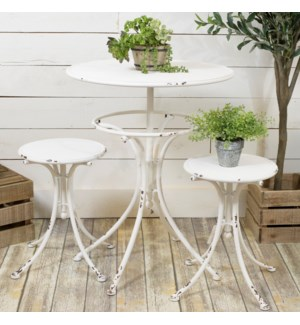 |MTL. BISTRO SET WHITE|
