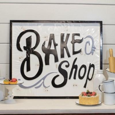 "|MTL. SIGN ""BAKE SHOP"" (4/cs)|"