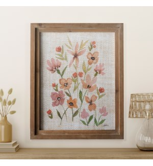 |WD. FRAMED FLORAL ART|